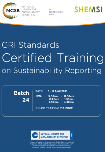 GRI Standards Certified Training April 2021 Malaysia