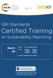 GRI Standards Certified Training,18 - 21 Jan 2021 Malaysia